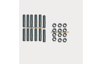 12 x EXHAUST MANIFOLD EXTRACTORS STUDS NUTS SET M12 x 1.25 x 50MM MITSUBISHI