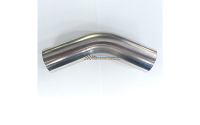 "2.5"" 63MM 45 DEGREE MANDREL BEND STAINLESS STEEL EXHAUST PIPE 21/2 2 1/2"