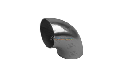 "2.5"" 63MM 90 DEGREE TIGHT RADIUS MANDREL BEND STAINLESS STEEL EXHAUST PIPE 2 1/2"