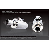 Varex Muffler:Round7' O.D Body,15' Long, 3' inlet and outlet,no tip