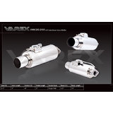 "Varex muffler 15"" long x 6.5"" Round and 2.5"" inlet with 4"" Outlet Single Tip"
