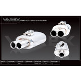 "Varex muffler 15"" long 10"" wide x 6"" high and 3"" inlet with twin 3"" tips"