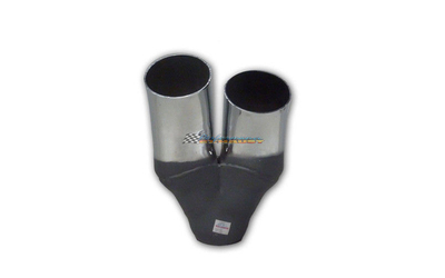 "3"" TWIN OUTLET DUMP SUIT RIGHT SIDE CHROME EXHAUST TIP"