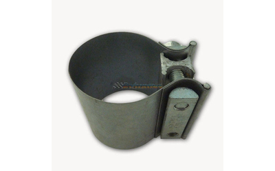 "2"" 51MM WIDE BAND BUTT EXHAUST MUFFLER CLAMP MILD STEEL"