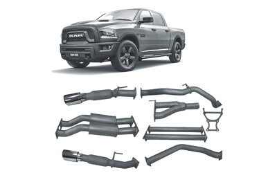 "DODGE RAM 1500 5.7LT V8 REDBACK EXTREME 3"" EXHAUST WITH RESO & HOTDOG"