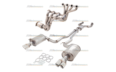 "HOLDEN COMMODORE VE VF V8 2.5"" XFORCE FULL EXHAUST SYSTEM 1.3/4 EXTRACTORS CATS CATBACK"