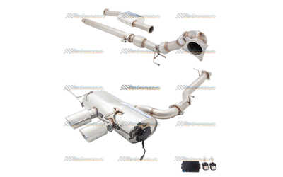 "VOLKSWAGEN VW GOLF R MK6 3"" STAINLESS XFORCE VAREX TURBO BACK EXHAUST"