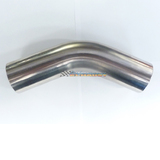 "2.25"" 57MM 45 DEGREE MANDREL BEND STAINLESS STEEL EXHAUST PIPE 21/4 2 1/4"