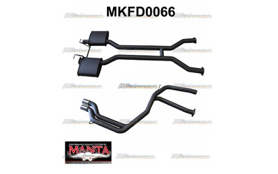 "FORD FALCON AU V8 IRS SEDAN 2.5"" MANTA TWIN EXHAUST SYSTEM"