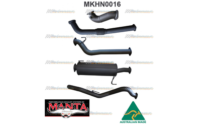 "HOLDEN RODEO RA 3.0LT TD CRD LWB 3"" MANTA TURBO BACK EXHAUST WITH MUFFLER NO CAT"