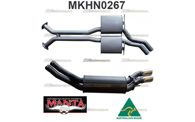 "HOLDEN ADVENTRA VY VZ V8 AWD WAGON TWIN 2.5"" MANTA CATBACK EXHAUST MUFFLERS"