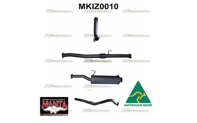 "ISUZU DMAX 2012 ON 3.0L 3"" inch MANTA EXHAUST TURBO BACK WITH MUFFLER"