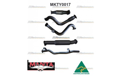 "TOYOTA LANDCRUISER 78 SERIES TROOP CARRIER 4.5TD MANTA TURBO BACK 3"" EXHAUST"