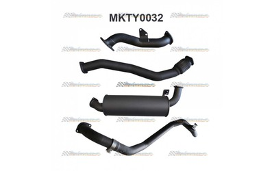 "TOYOTA LANDCRUISER HDJ80 SERIES 3"" MANTA TURBO BACK EXHAUST"