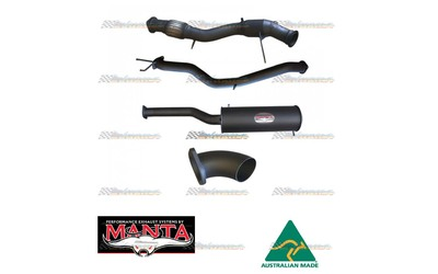 "VW AMAROK JUNE 2011-JUNE2012 MANTA 3""TURBO BACK EXHAUST TDI400-420 2.0L BI-TURBO UTE"