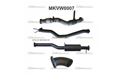 "VW AMAROK 2.0TD 3"" MANTA ALUMINISED  TURBO BACK EXHAUST"