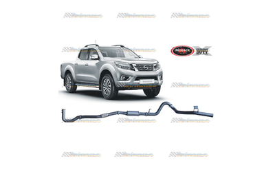 "NISSAN NAVARA D23 NP300 2.3LT TD REDBACK EXTREME 3"" EXHAUST WITH RESO"