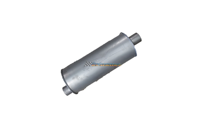 "Viper performance muffler 1.3/4"" piping 18"" long 6"" round triflow design"