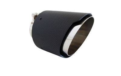 "Angle Cut CARBON FIBRE Exhaust Tip - 2.5"" Inlet - 4.5"" Outlet (5.5"" Long)"