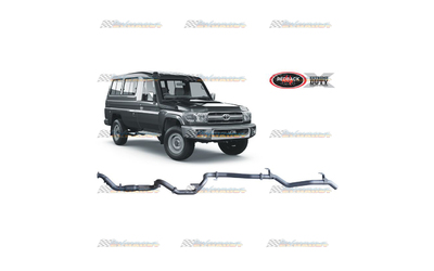 "TOYOTA LANDCRUISER 78 SERIES TROOPY 4.5LT TD V8 REDBACK 3"" EXHAUST CAT & PIPE"