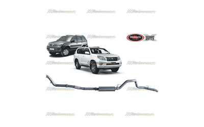 "TOYOTA PRADO 120 150 SERIES D4D 3.0LT TD REDBACK EXTREME 3"" EXHAUST WITH MUFFLER"