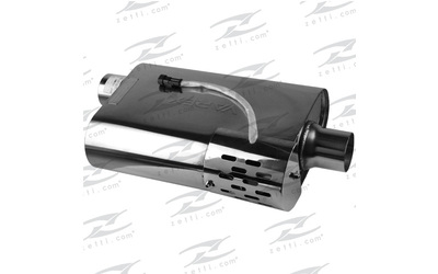 "Varex muffler hidden motor 9.5"" wide x 4"" high and 3"" in and out O/C"