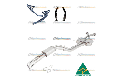 "COMMODORE VT VX VU VY VZ 5.7LT 6.0LT V8 EXTRACTORS CATS 2.5"" STAINLESS EXHAUST"